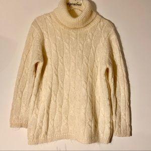 Studio Works Cream Mohair Sweater Size XL